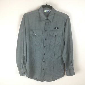 Hurley Men's Grey button down Shirt (S)